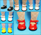 Red, Aqua,Black, Pink, White, Yellow PATENT MARY JANE SHOES for ALL 18 Inch Doll