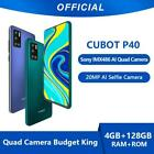 Cubot P40 Smartphone NFC 4GB+128GB Rear Quad Camera 20MP 6.2 Inch