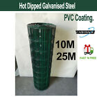 PVC Coated Wire Mesh Fencing Green Steel 90cm Height Garden Fence Farm Pet UK