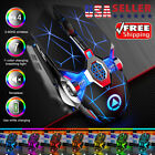 Wireless USB Mice Gaming Mouse 7 Color LED Backlit Rechargeable For PC