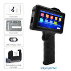 Handheld Inkjet Printer Touch Screen Portable Date Barcodes Coding Machine / Ink