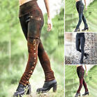 Medieval Renaissance Women Gothic Steampunk Skinny Trouser Pants Cosplay Costume
