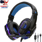 LED Gaming Headset Stereo Surround Mic Headphones For PS5 PS4 Xbox Series X S PC