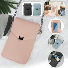 Women Small Shoulder Bag Cell Phone Touch Screen Pouch Case Cross-body Wallet PU