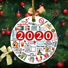 2020 Pandemic Annual Events Quarantine Christmas Ornament Funny XMAS Ornaments
