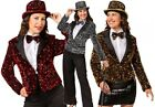 Ladies Sparkly Sequinned Blazer Jacket Christmas 70s Fancy Dress Costume Outfit