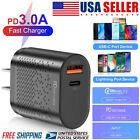 18W Fast USB-C Wall Charger Power Cube PD Cable Cord For iPhone 12 Mini/Pro Max
