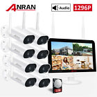 """CCTV 1080P 12.5""""LCD 8CH NVR 2MP WIFI Security Camera System Wireless Outdoor 2TB"""