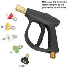 3000 PSI High Pressure Washer Gun Car Wash Foam Spray Short Wand w/Nozzle Tips photo