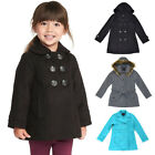 Girl's Fleece Soft Polyester Pocket Outwear Solid Button Closure Jacket Coat