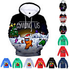 Among Us Print Kids Boy Girl Hoodie Gaming Cool Pullover Jumper Outfit Blouse