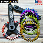 104BCD Square Taper 170mm Crankset 30T Narrow Wide Single MTB Bike Chainring CNC