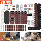 217Pcs Dremel Rotary Tool Accessory Kit Cutting Grinding Sanding Polishing Set