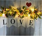 2/5/10M Artificial Rose Flowers LED String Fairy Lights Home Party Lamps Decor