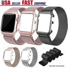 For Apple Watch Series 6 5 4 3 SE Magnetic Milanese Loop Band Strap Case 38-44mm