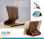 Natural walnut, maple wood holder stand for iPad Pro, tablets or smartphones