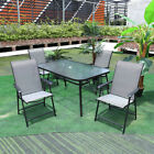 Garden Furniture Set Glass Top Table And Chairs Diner Home Outdoor Patio Bistro