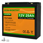 10/20/30/50/100 AH 12V Volt LiFePO4 Rechargeable Lithium Iron Phosphate Battery