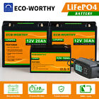 10/20/30/50/100AH 12V LiFePO4 Rechargeable Lithium Iron Phosphate Battery for RV