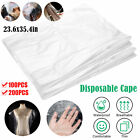 100/200pcs Disposable Hair Cutting Capes Hairdressing Home Barber Apron Dyeing