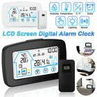 Digital LCD Indoor Outdoor Weather Thermometer Alarm Clock Temperature Humidity