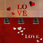 Romantic Love Heart 3d Mirror Wall Stickers Diy Art Decal Home Decoration Us