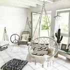 Macrame Hammock Chair Swing Chair Hanging Seat Cotton Rope Home Garden Patio Us