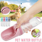 Portable Dog Cat Pet Water Bottle Drinking Cup Puppy Travel Outdoor  /m