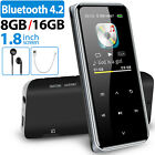 8GB/16GB Bluetooth4.2 Touch Screen MP3 Player HiFi Lossless Sound Music Recorder