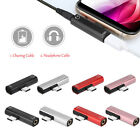 Dual 2 in 1 Type C to 3.5mm AUX Headphone Adapter Audio Charger Splitter Android