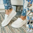 Women+Loafers+Lace+Up+Womens+Ladies+Pumps+Shoes+Single+Slip+On+Sneakers