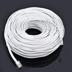 100ft feet RJ11 6P4C Modular Telephone Extension Cable Phone Cord Line Wire