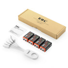 USB 9V 9-Volt 6F22 Lithium Ion battery Rechargeable Batteries / USB Cable Lot