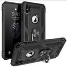 iPhone 7 Case Flexible Heavy Duty Rotating Ring Kickstand PC Black Slim Cover US