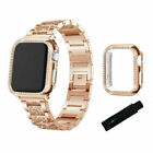 Diamond Bling Band Case iWatch Strap For Apple Watch Series SE 6 5 4 3 40mm 44mm