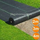 1,2,3,4m Wide 100gsm Weed Control Fabric Ground Cover Membrane Garden Landscape