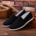 Chinese Traditional Cloth Kung Fu Shoes,Black Loafer for Men Outdoor Sports