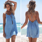 Women Ladies Chiffon Dress Beach Wear Summer Bikini Cover Up Boho Swing Sundress