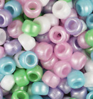 500 Pony Beads 9 x 6MM With 4mm Large Hole high Quality made USA