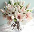Orchid Artificial Silk Flower Wedding Decoration Magnolia Home Potted Fake Plant
