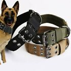 Tactical heavy duty Nylon large Dog Collar collar K9 Military with Metal Buckle.