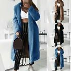 Womens Faux Fur Thick Fleece Lined Long Parka Coat Winter Warm Jacket Outwear