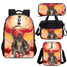 Legendary Godzilla Large Backpack Insulated Lunch Box Pen Case Lot Shoulder Bags