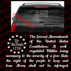 We the People 2nd Amendment Gun Right USA Flag Die Cut Decal Vinyl 2A  US027A