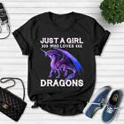 Just A Girl Who Loves Dragons Funny For Girls Gift Classic T-Shirt
