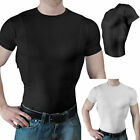 Mens Womens Tactical Combat Pullover Tops T-Shirt Blouse Tee With Hidden Holster