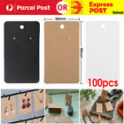 100pcs Earring Cards Cardboard Paper Jewelry Accessories Display Holder Retro