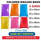 STRONG COLOURED MAILING POST MAIL POSTAL BAGS POLY POSTAGE SELF SEAL CHEAP NEW