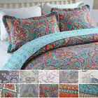 3-Piece 100% Cotton Bedspread Reversible Coverlet Bed Cover Quilt Set Oversized