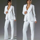 White 3 Piece Formal Work Wear Suit Women Ladies Fashion Business Office Tuxedos
